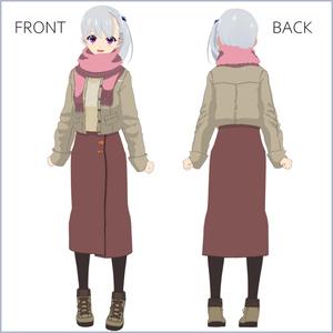 【#VRoid】秋冬の私服コーデ【セルルック対応】