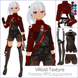 【#VRoid】ファンタジーRPG装備セット【女性用】