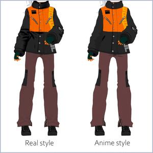 【#VRoid】スノーウェアセット【アニメ・リアル調対応】