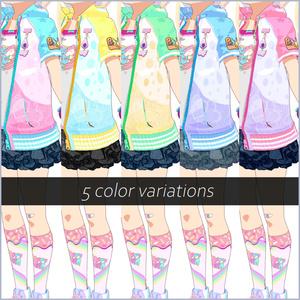 【#VRoid】ロリポップ★ガーリーコーデ【セルルック対応】