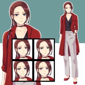 【立ち絵素材】女性01 私服