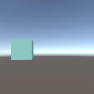 VRCワールド用 デスクトップでもなでられるキューブ