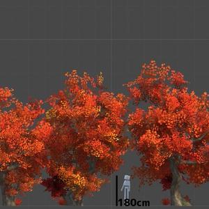 【Unity専用】VRChat対応 秋の樹木セット
