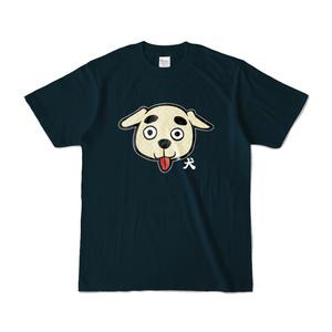 パチ7コミック 犬Tシャツ(犬 ネイビー)