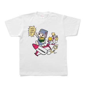 【期間限定】ピノコ CR今日もカツ丼コラボTシャツ(スペースピノコ_白)
