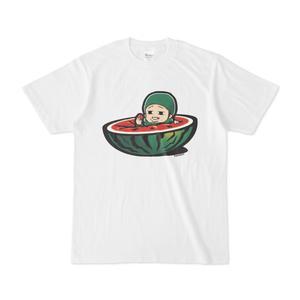 パチ7コミック ダンナくんTシャツ(ダンナスイカ 白)