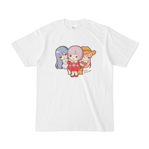 パチ7コミック ピノコTシャツ(おとめ3人組 白)