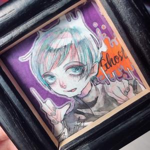 !!最終SALE!!2018 Halloween ミニ原画 (ghost♂)