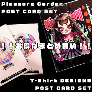 Pleasure garden&T-shirt DESIGNS[POST CARD SET]