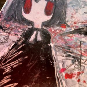 【原画】赤い花