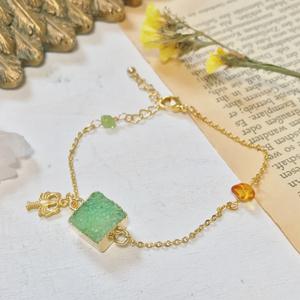 Charia color druzy bracelet
