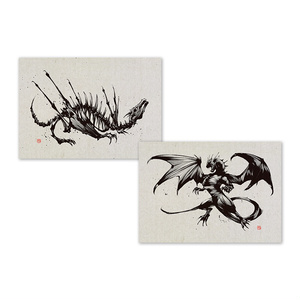 A4ミニポスター / 墨の竜