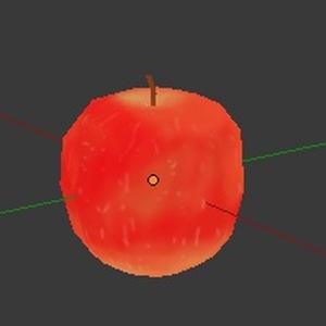 ローポリリンゴ