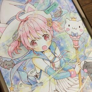 【原画】猫魔女ちゃん A4
