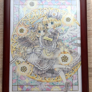 複製原画B5(額なし)/ポストカード 双子天使ちゃん