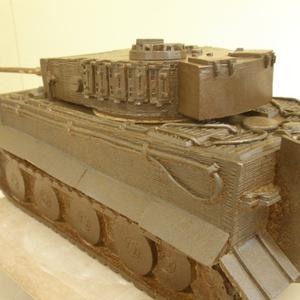 信楽焼 陶器製 五号戦車 「Tiger Ⅰ」