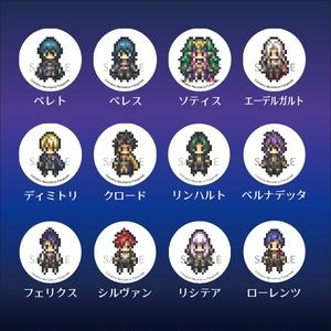 FE風花 ドット絵缶バッジスタンド12種
