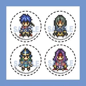 ファイアーエムブレム 蒼炎の軌跡 暁の女神 ドット絵缶バッジ