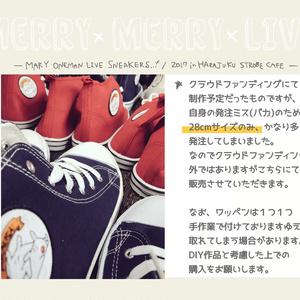※オリジナルめあうさスニーカー(28cmサイズのみ)