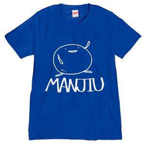 Tシャツ - MANJIU(青)