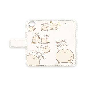 まんじうiPhoneケース(白)