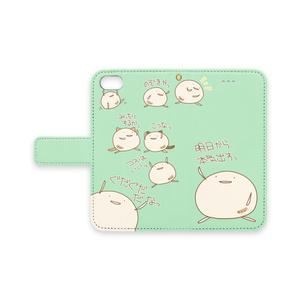まんじうiPhoneケース(緑)