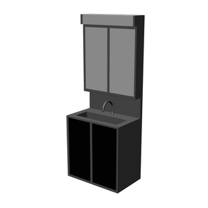 [CLIP STUDIO用]3D素材 洗面台