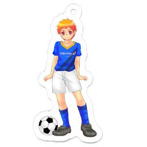 【アクリルキーホルダー】サッカーユニフォームの悠橙(はると)