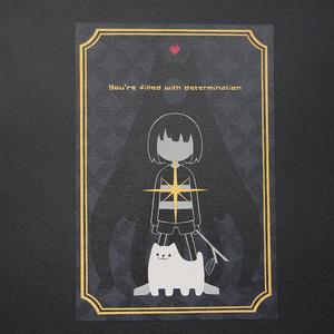 輝くケツイのポストカード