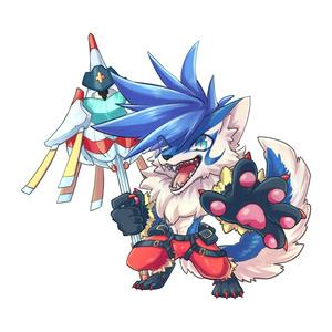 擬獣化アクリルキーホルダー/ガロ