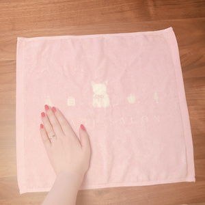 USAGI SALON オリジナルハンドタオル(香水とうさぎ)ピンク