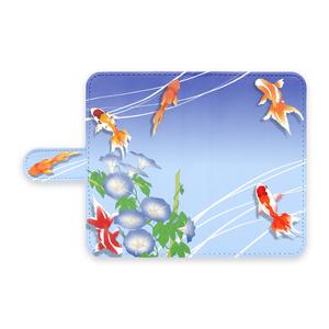 手帳型Androidケース - 夏金魚