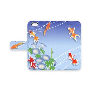 手帳型iPhoneケース - 夏金魚 -