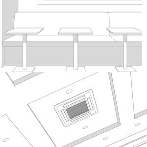 背景線画「カフェ各角度」