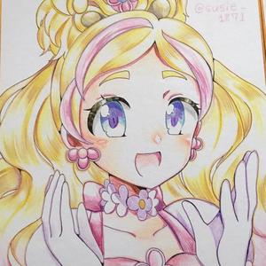 キュアフローラ/春野はるか直筆色紙