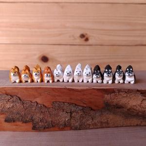 木彫りの豆柴