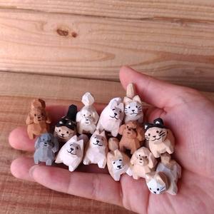 どうぶつ木彫りへ おひねり(スマホ用カレンダー画像)