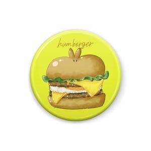 うさぎハンバーガー缶バッジ