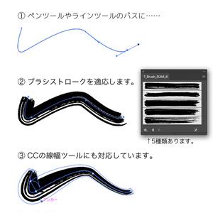 Brush SUMI [Illustrator専用ブラシファイル]【無料】