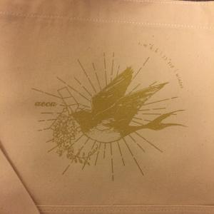 燕と藤のキャンバスショルダーバッグ