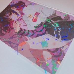 ホログラムポストカード(ハート)