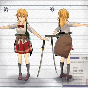 オリジナル3Dモデル「武装JK 米津さん」