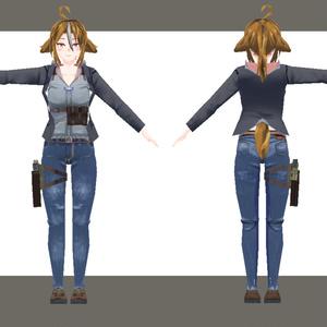 オリジナル3Dモデル ライカ -Laika