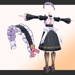素体付き衣装モデル「わんわんメイド服」