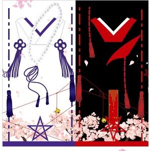 【TYO】星昴メモ帳 (表の皇/裏の桜塚 式服柄 ・ 星昴プチTYO開催記念柄)