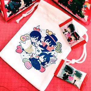 【TYO】星昴御朱印巡りコンプリート記念ミニ巾着(飴ちゃんおまけ付き)