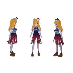【無料】ハロウィンゾンビワンピース【VRoid用テクスチャ】