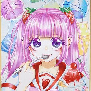 かき氷を食べる少女🍧原画