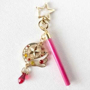 桜な魔法少女風バッグチャーム