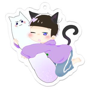 おねむ一松+抱き枕カラ松